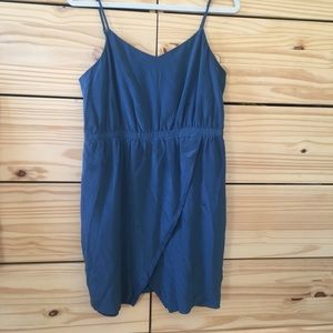 Madewell blue silk dress